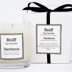 gardenia candle, sniff soy candles